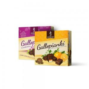 Schaum-Geleebonbons in schokolade