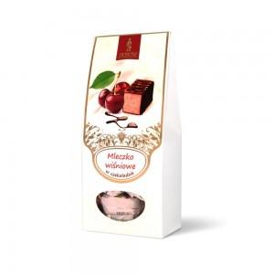 Mleczko w czekoladzie z wiśnią liofilizowaną