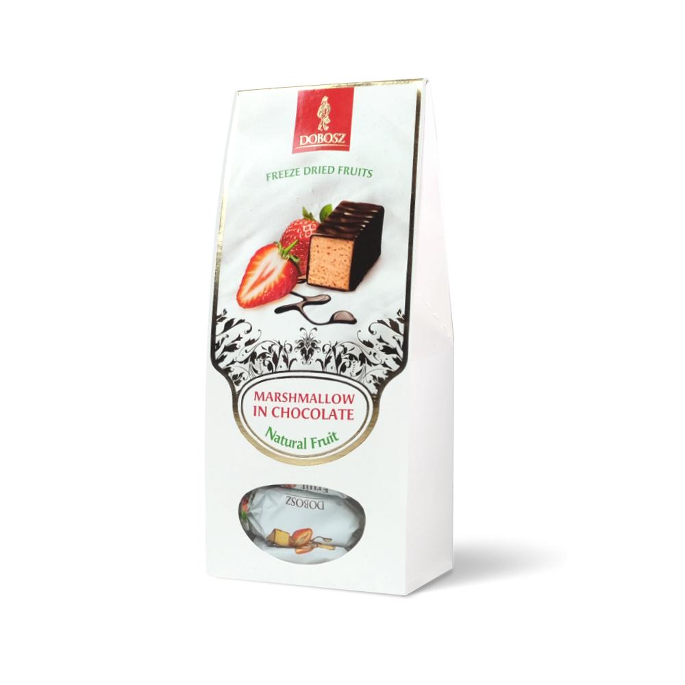 Erdbeerschaumbonbons in schokolade