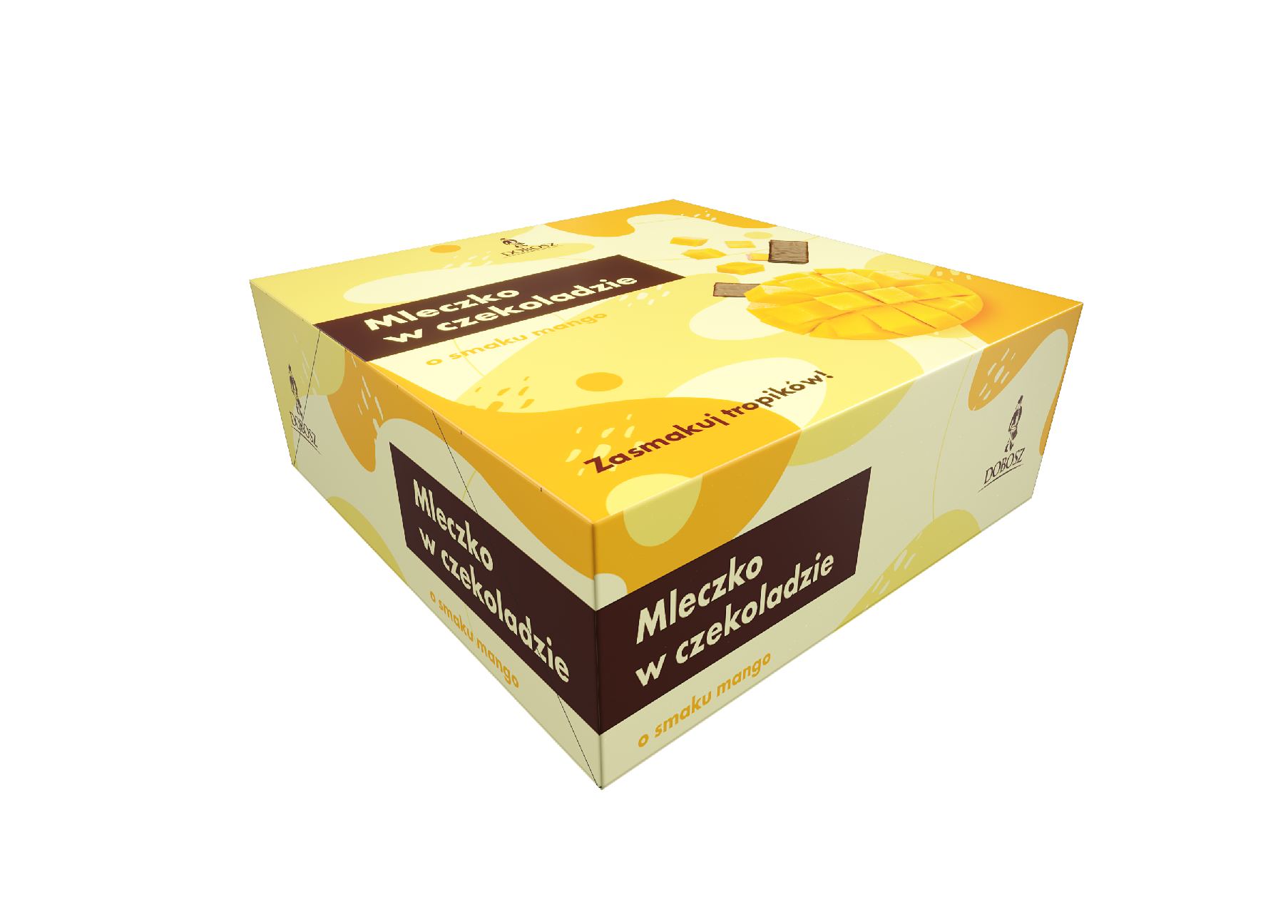 Mango marshmallow in chocolate