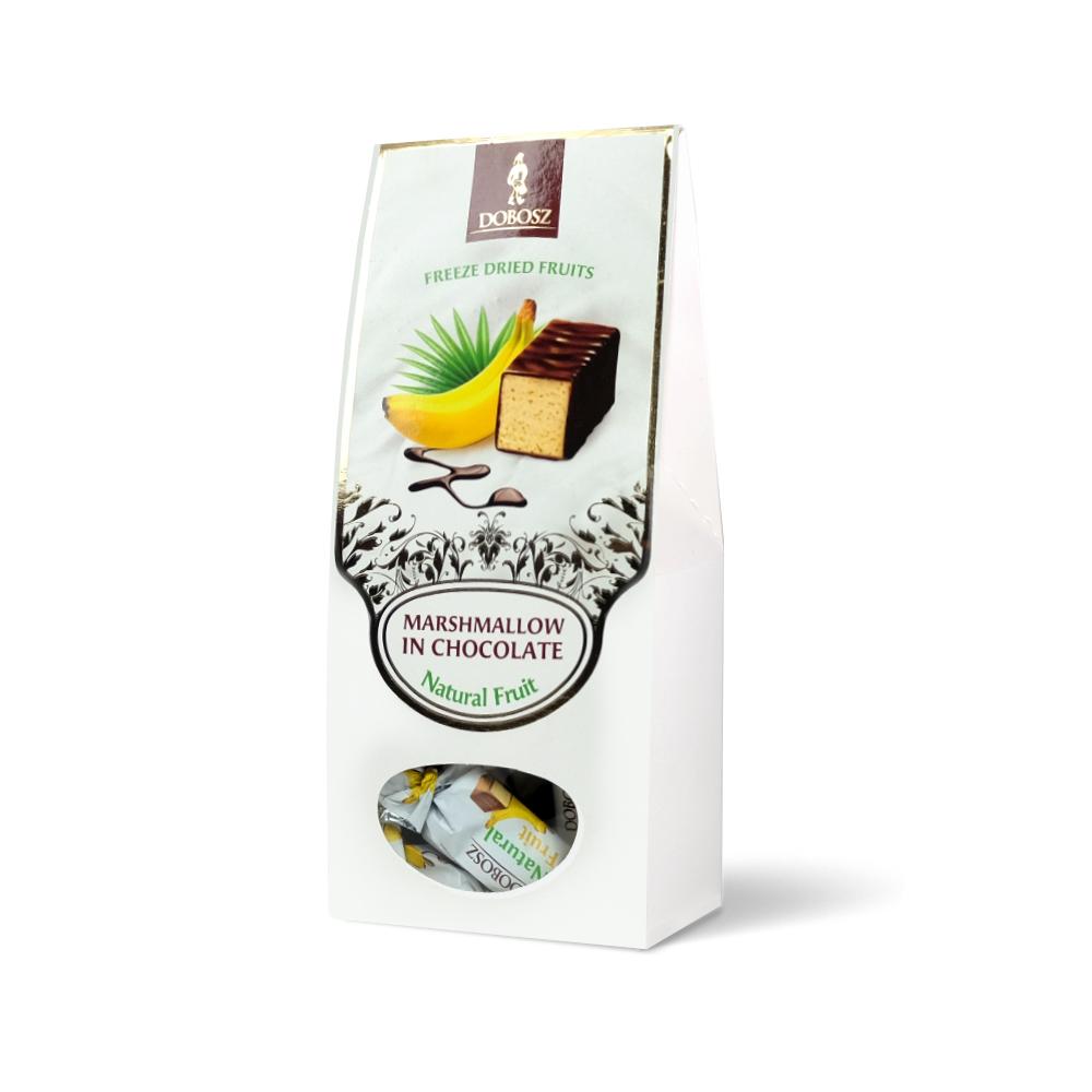 Banana marshmallow in chocolate