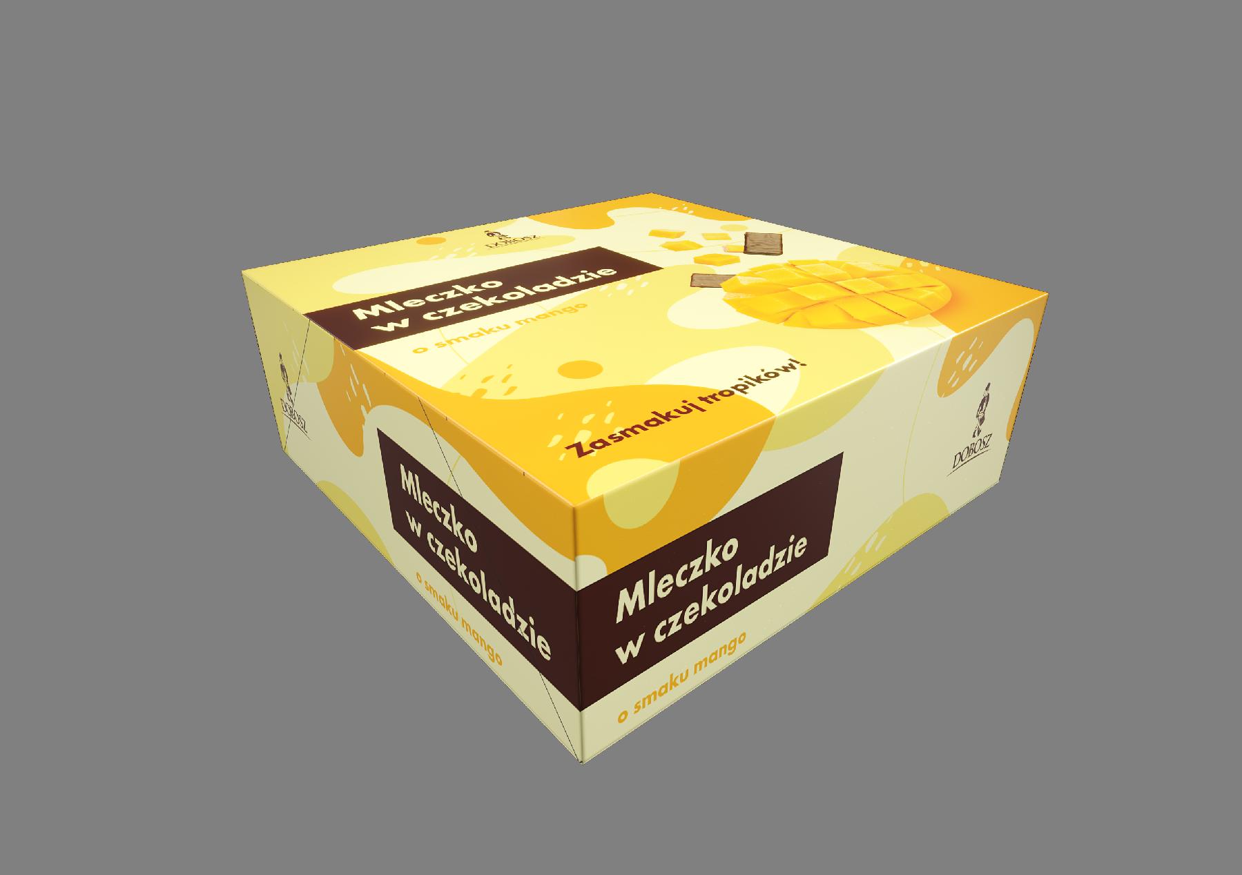 Schaumzuckerwarekonfekt in schokolade Mango Geschmack